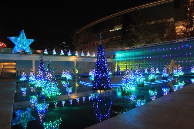 ららぽーと豊洲のクリスマスイルミネーション2010