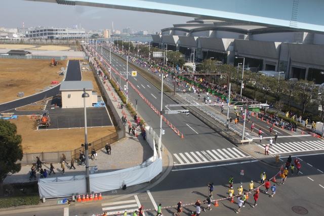 東京マラソン2011 ゴール付近