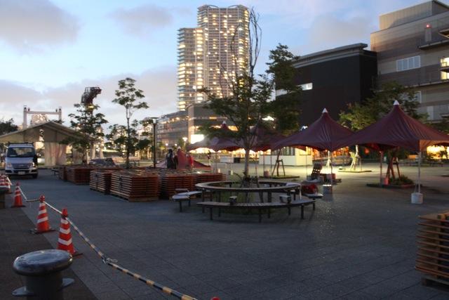 豊洲オクトーバーフェスト 2011準備中