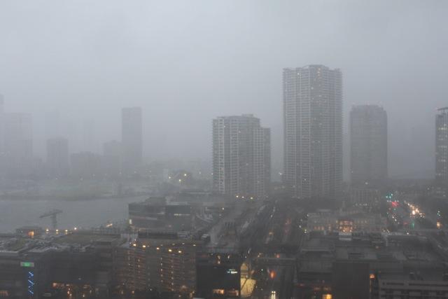 台風15号 豊洲に接近中