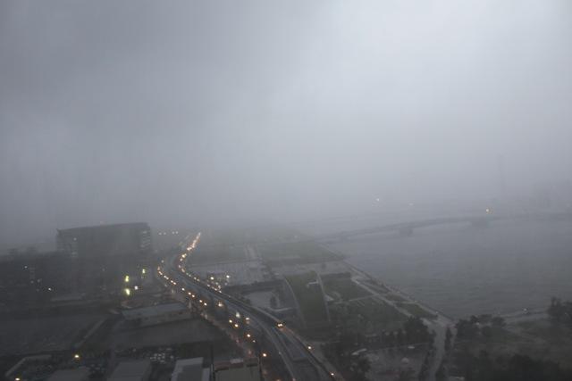 台風の豊洲