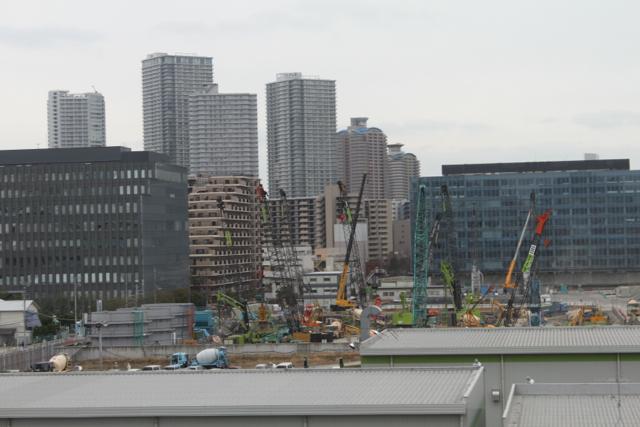 昭和大学新豊洲病院(仮称)の工事現場