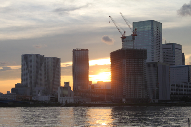豊洲の夕日